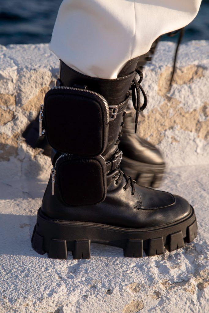 Prada monolith boots