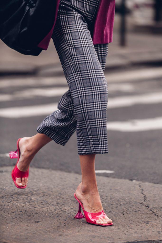 NYFW AW20 amina mudai pvc heels