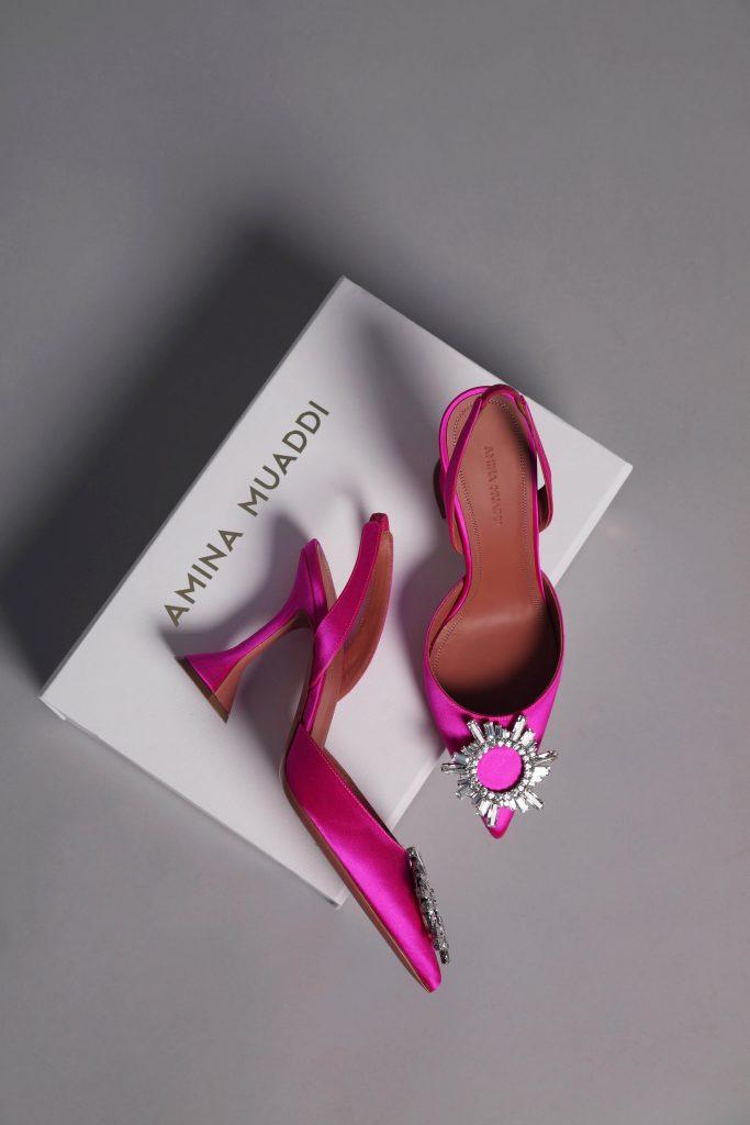 amina mudai begum pink heels