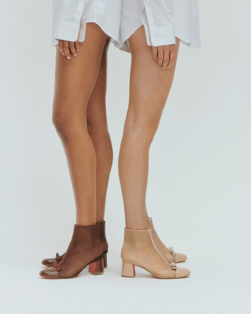 Christian Louboutin nudes nude boots