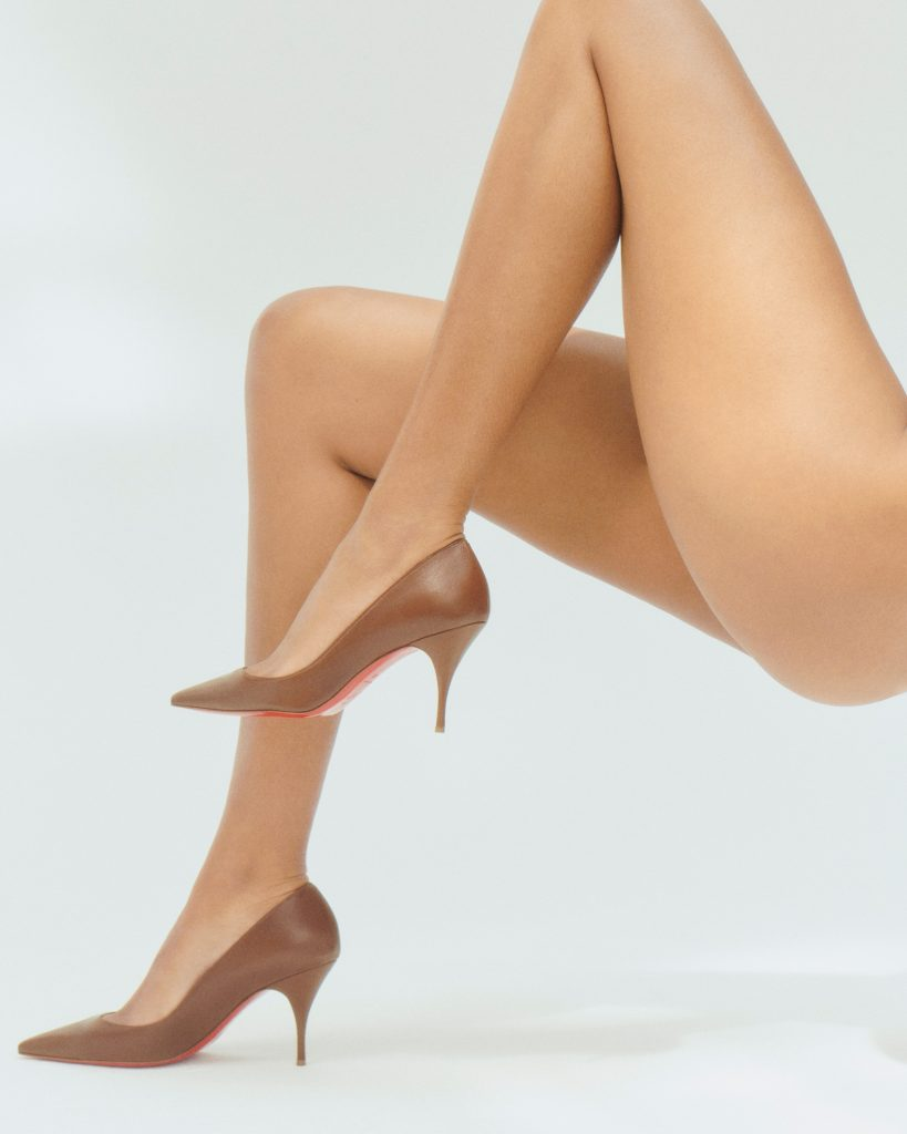 Christian Louboutin nudes pumps