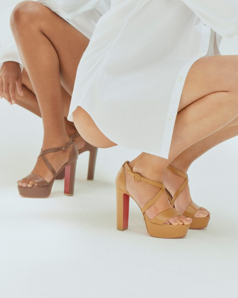 Louboutin nudes nude sandals