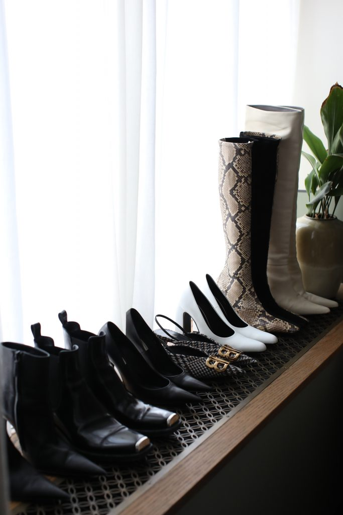 Celine boots, the row boots,