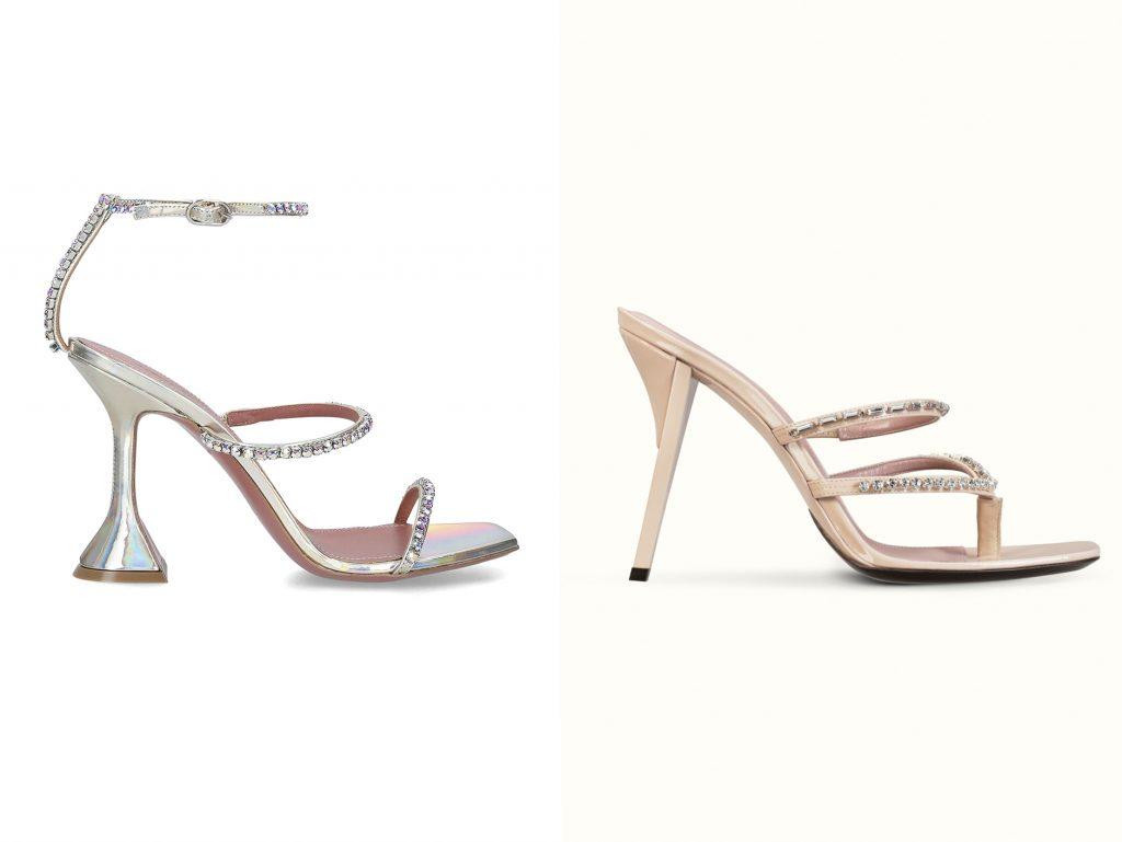 amina-muaddi-fenty glitter sandals