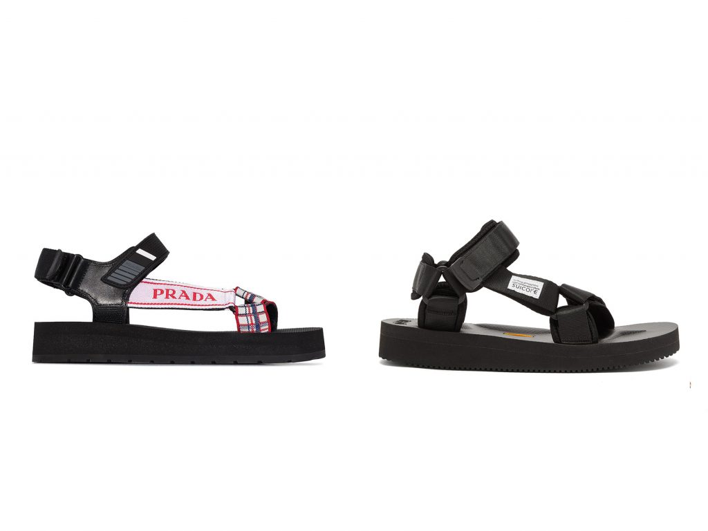 prada-suicoke dad sandals