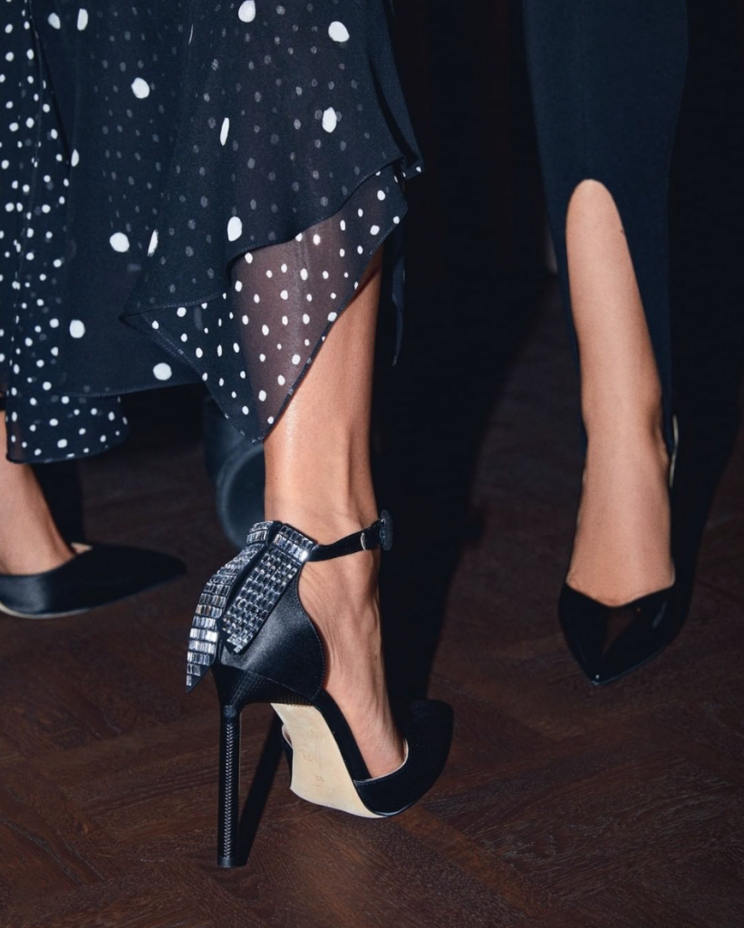black party sandals