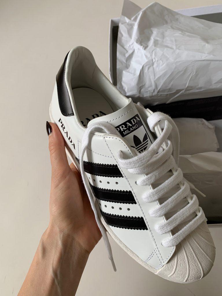 prada Adidas leather sneakers