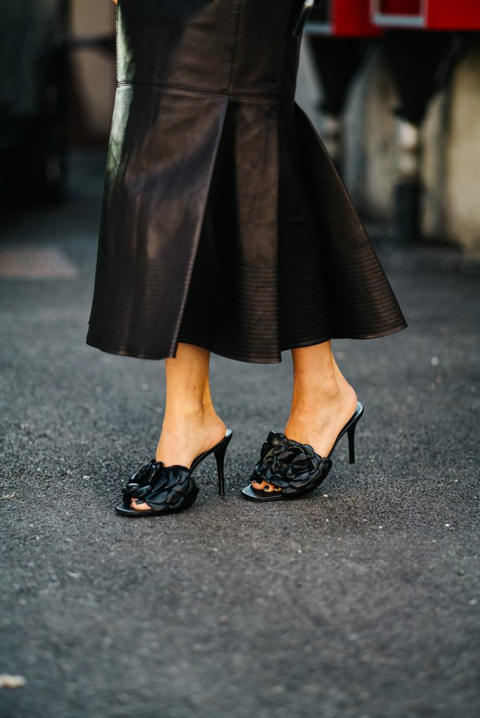 Valentino floral mules