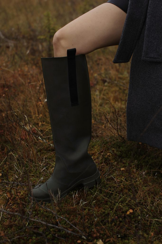 Ganni recycled boots