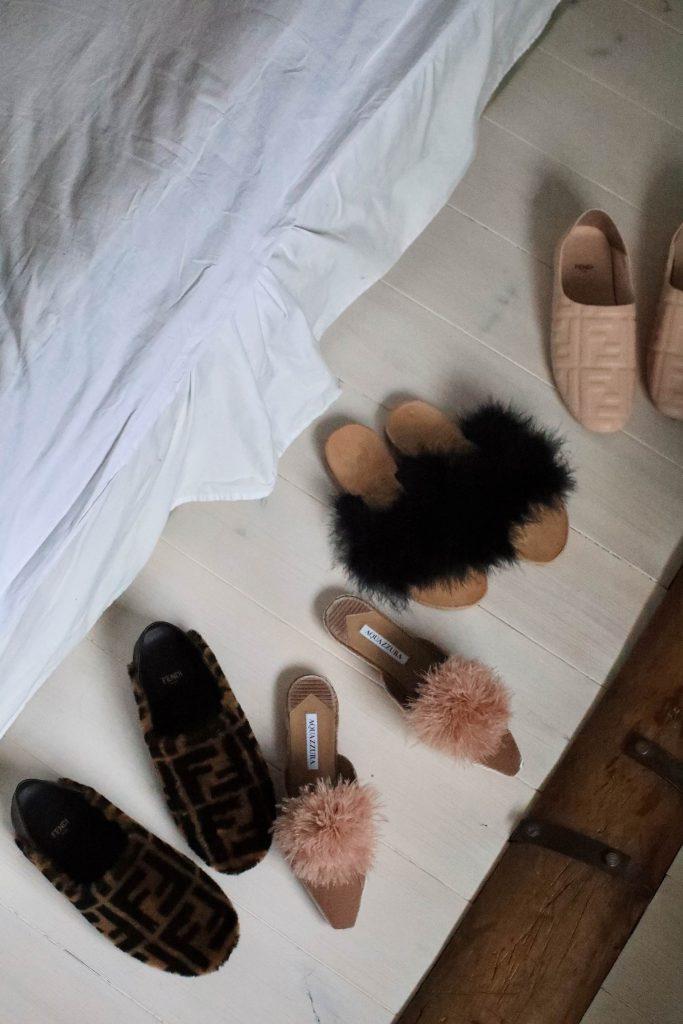 fendi fur slippers aquazzura flats