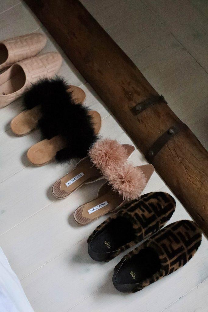 cozy fendi aquazzura flat shoes