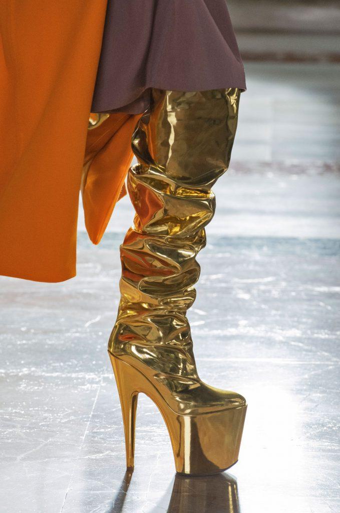 valentino gold platforms