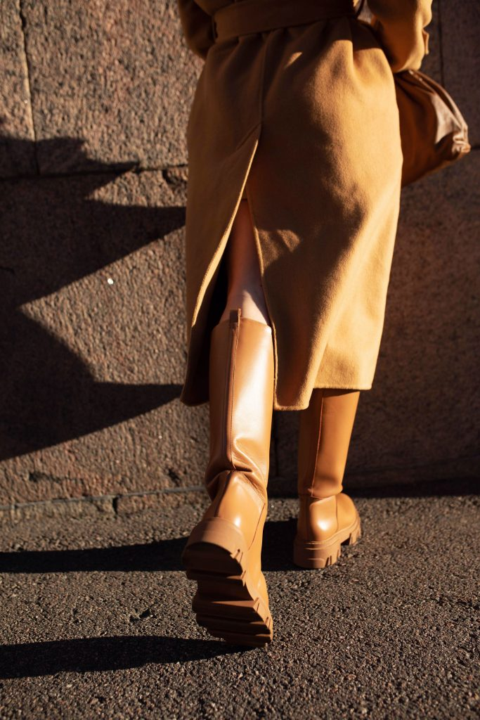 beige lug sole boots