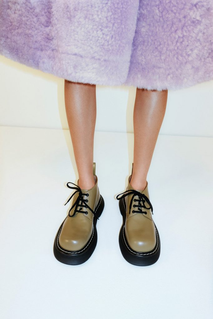 bottega veneta bounce boots outfit