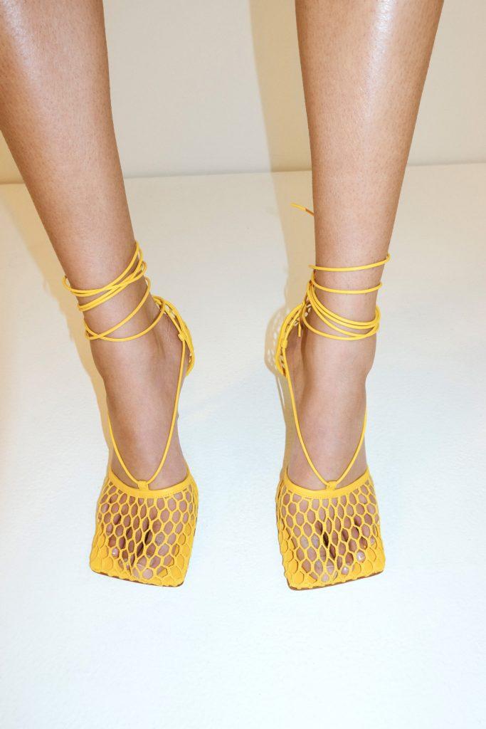 bottega veneta yellow sandals