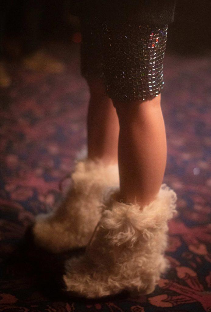 Chanel fur boots winter