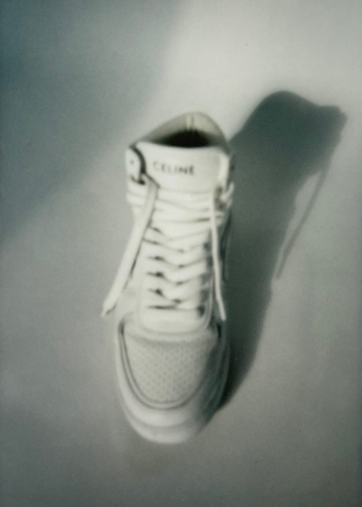 Celine white high top trainers