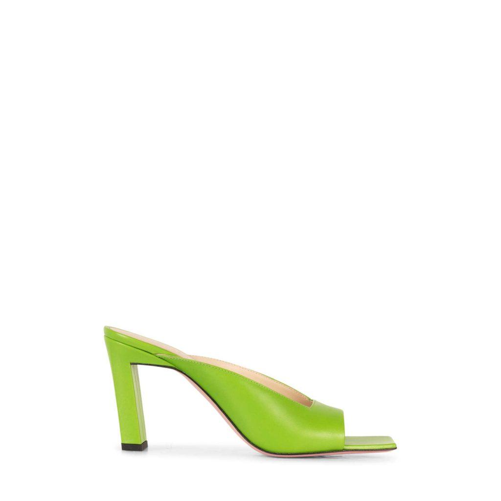 wandler green mules
