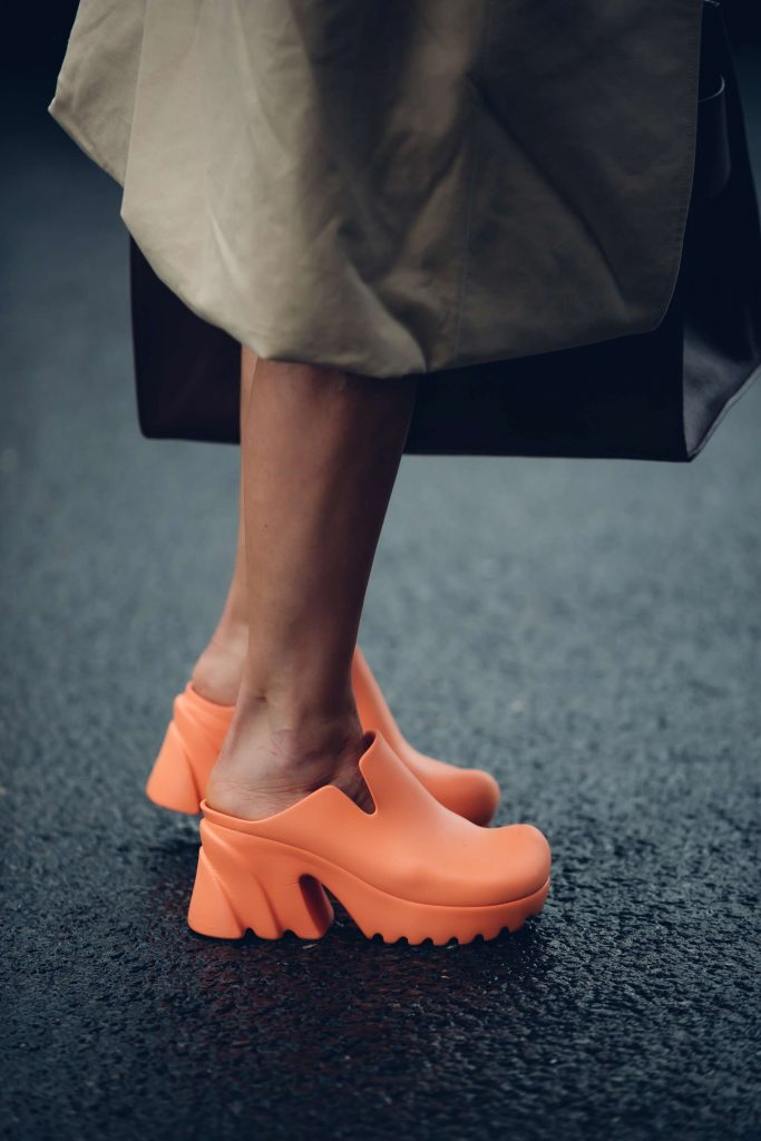 Bottega shoes London fashion week street style