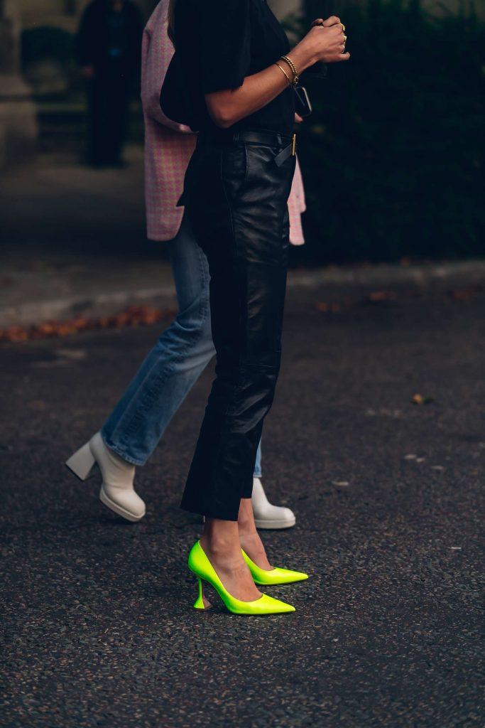 amina muaddi London fashion week street style
