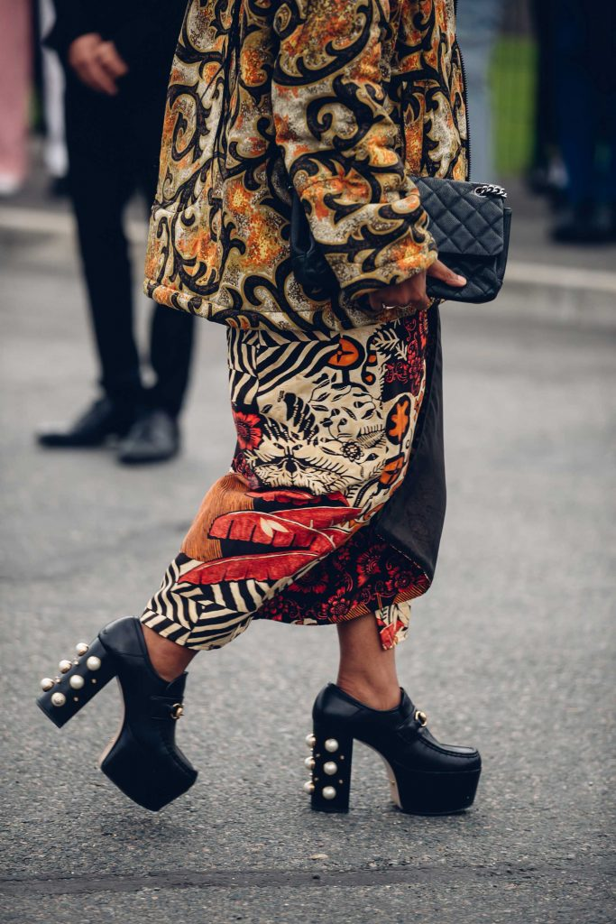 PFW street style Gucci boots