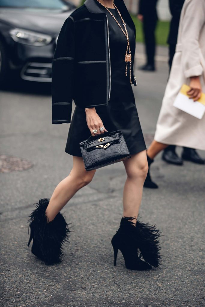 PFW street style Hermes boots
