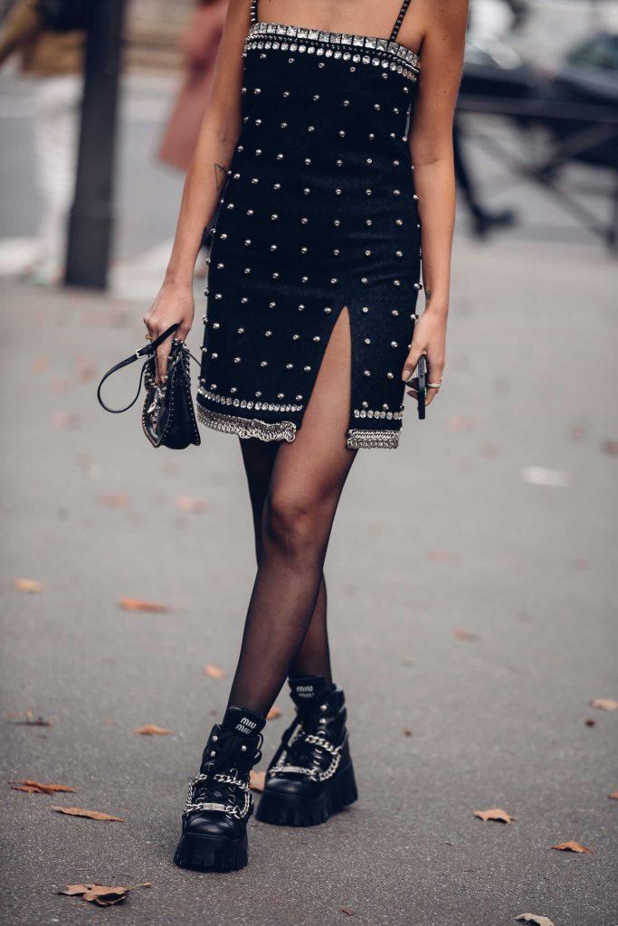 PFW street style miu miu boots