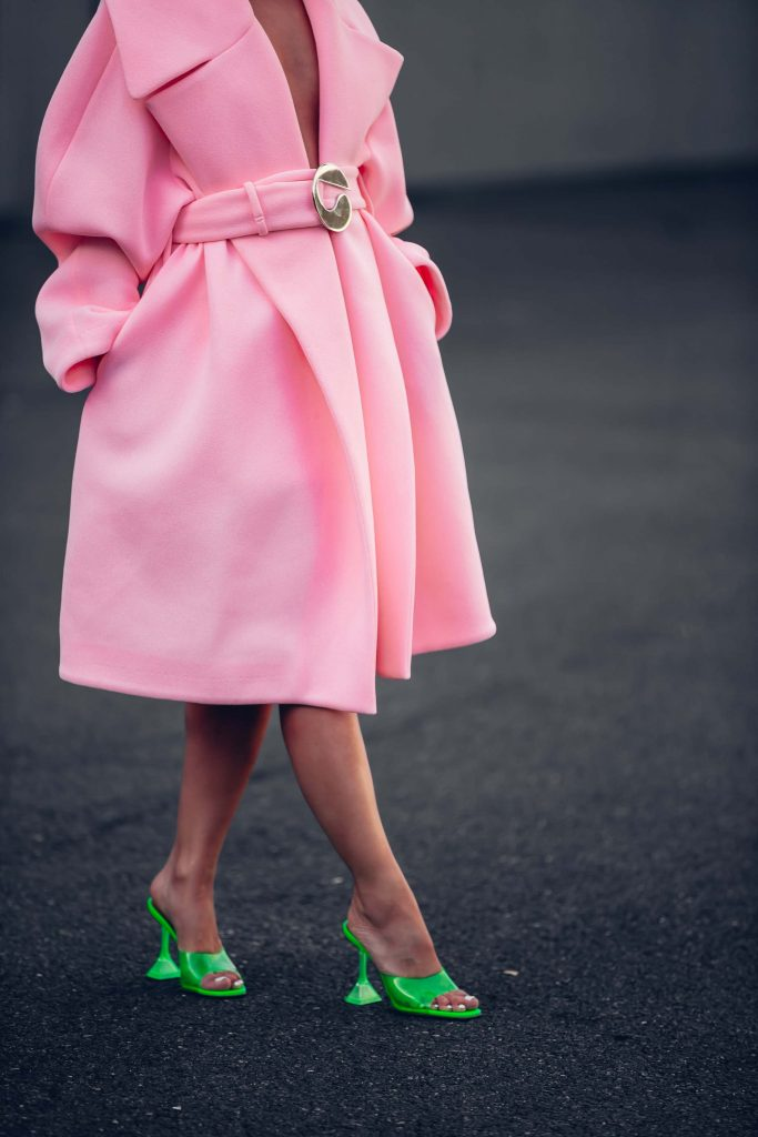 PFW street style green shoes